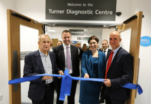 David White, Chairman, ESNEFT; Mark Chapman, MD Alliance Medical UK; Dawn Scrafield, Finance Director ESNEFT; and Russell Trenter, Group Commercial Director, Alliance Medical Group